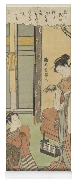 Woman At Water Basin, Utagawa Kuniyoshi, 1832 Yoga Mat