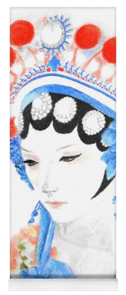 Woman From Chinese Opera With Tattoos -- The Original -- Asian Woman Portrait Yoga Mat