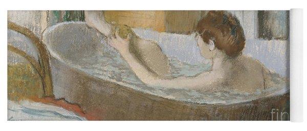 Woman In Her Bath Yoga Mat
