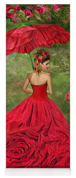 Woman In The Rose Gown Yoga Mat