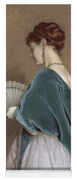 Woman With A Fan Yoga Mat