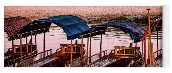Wood Boats Bled Yoga Mat