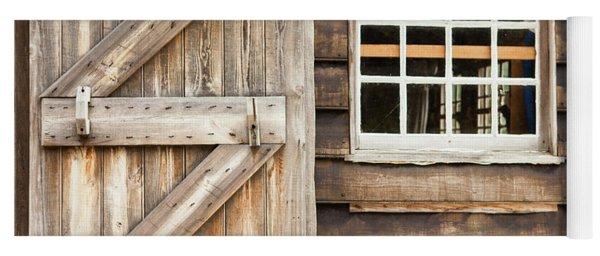 Wood Door And Window Yoga Mat