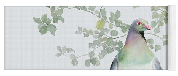 Yoga Mat featuring the painting Wood Pigeon by Ivana Westin