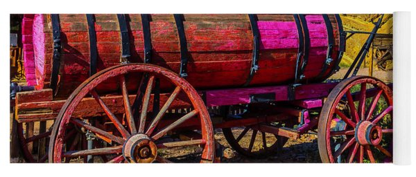 Wooden Water Wagon Yoga Mat