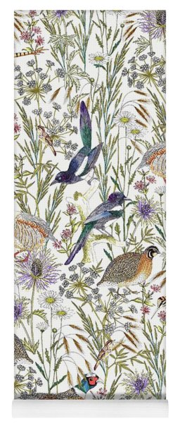 Woodland Edge Birds Yoga Mat