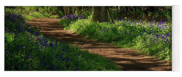 Woodland Path Lined By Bluebells Yoga Mat