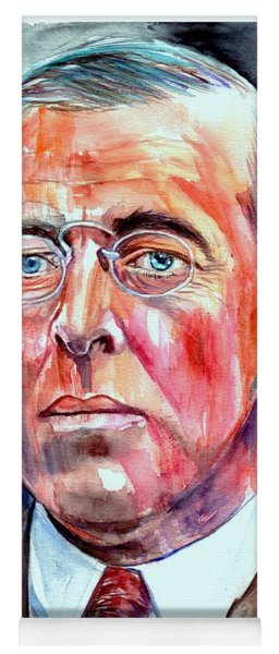 Woodrow Wilson Painting Yoga Mat