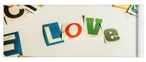Word Of Love Yoga Mat