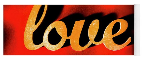 Words Of Love And Retro Romance Yoga Mat