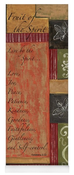 Words To Live By, Fruit Of The Spirit Yoga Mat