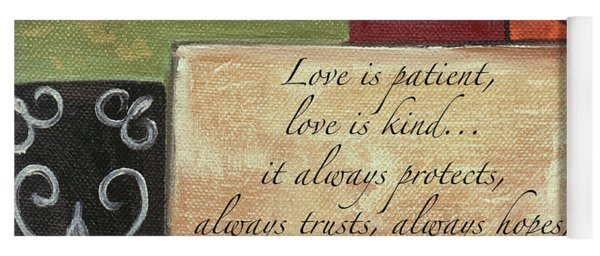 Words To Live By Love Yoga Mat