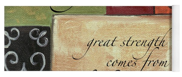 Words To Live By Strength Yoga Mat