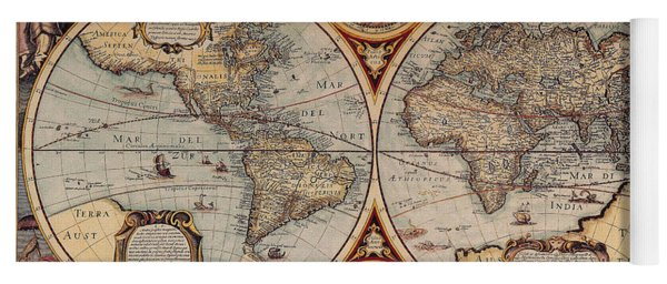 World Map 1636 Yoga Mat