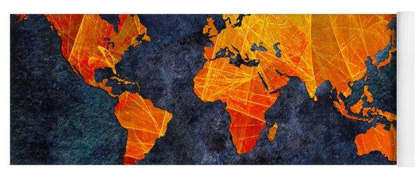 World Map - Elegance Of The Sun - Fractal - Abstract - Digital Art 2 Yoga Mat