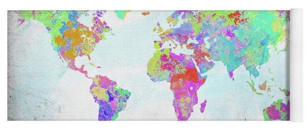World map paint splashes yoga mats fine art america world map paint splatter yoga mat publicscrutiny Image collections