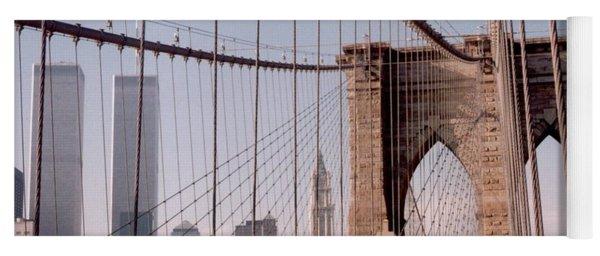 World Trade Center And Brooklyn Bridge Yoga Mat