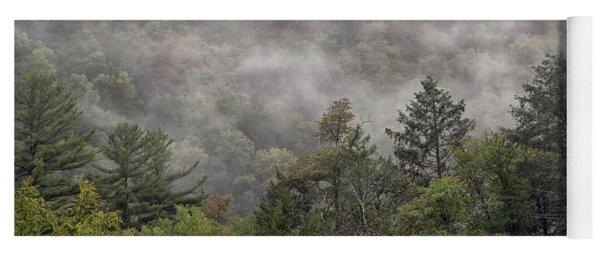Worlds End State Park Fog Yoga Mat