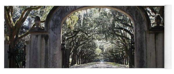 Wormsloe Plantation Gate Yoga Mat