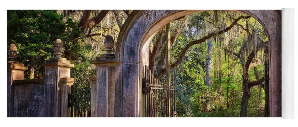 Wormsloe Plantation Gate Yoga Mat