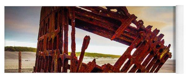 Worn Rusting Shipwreck Yoga Mat