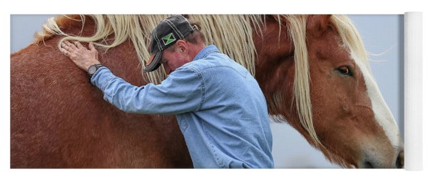 Wrangler Jeans And Belgian Horse Yoga Mat