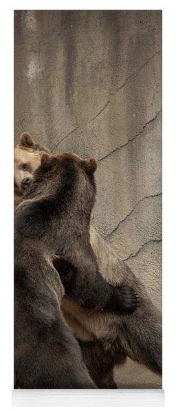 Wrestling Bears Yoga Mat
