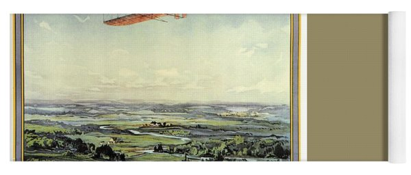 Wright Brothers - World's Greatest Aviators - Dayton, Ohio - Retro Travel Poster - Vintage Poster Yoga Mat