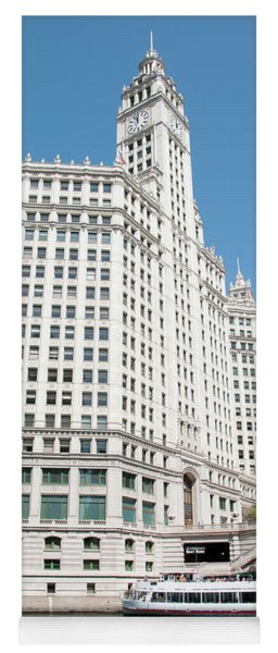 Wrigley Building Overlooking The Chicago River Yoga Mat