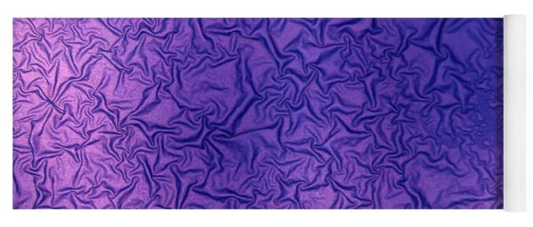 Yoga Mat featuring the photograph Purple Wrinkles by Beauty of Science