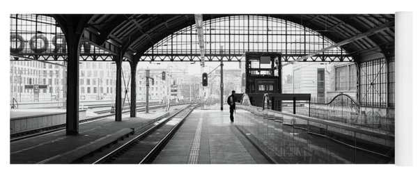 Yoga Mat featuring the photograph Wroclaw Central Railways Station by Dubi Roman