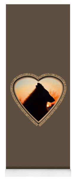 Wuffstar Happiness Is A Long Haired German Shepherd Heart Yoga Mat