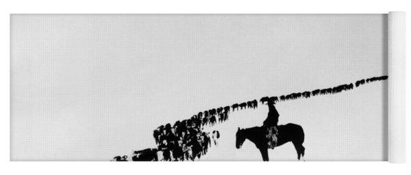 Wyoming: Cattle, C1920 Yoga Mat