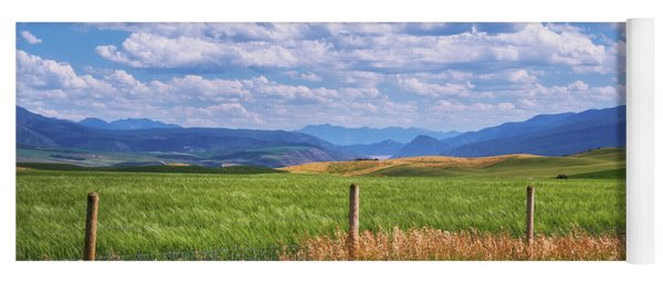 Yoga Mat featuring the photograph Wyoming Landscape by Sharon Seaward