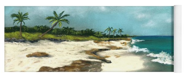 Yoga Mat featuring the painting Xcaret - Mexico - Beach by Anastasiya Malakhova