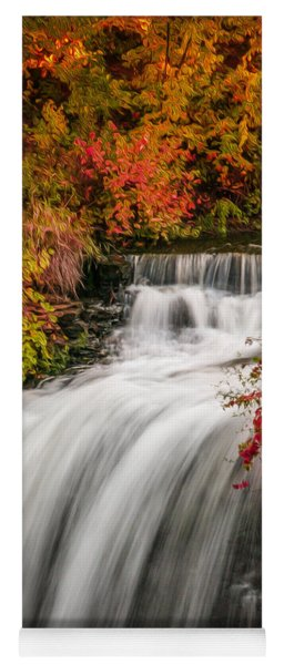 Yoga Mat featuring the photograph Fall At Minnehaha Falls by Patti Deters