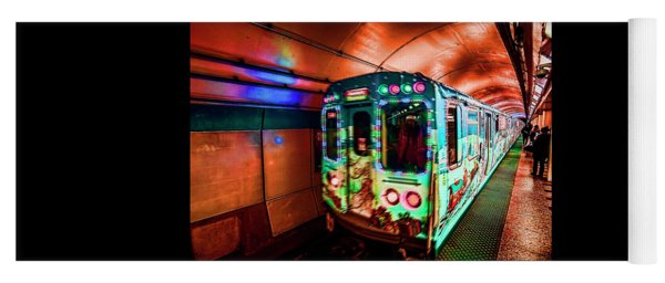 Xmas Subway Train Yoga Mat