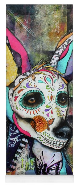 Xolo Mexican Hairless Day Of The Dead Yoga Mat