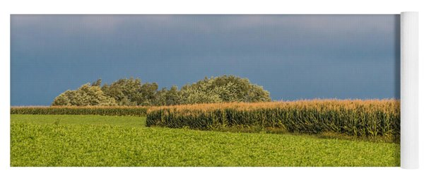 Yoga Mat featuring the photograph Farmer's Field by Patti Deters