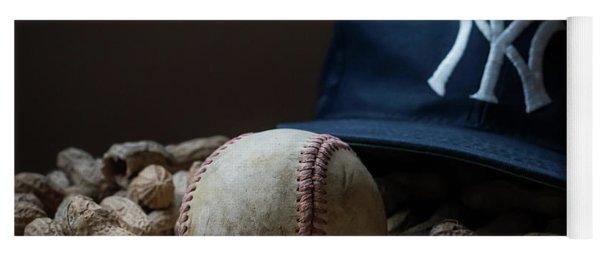Yankee Cap Baseball And Peanuts Yoga Mat