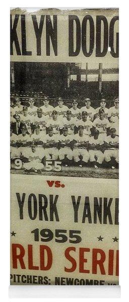 Yankees And Dodgers World Series 1955 Yoga Mat