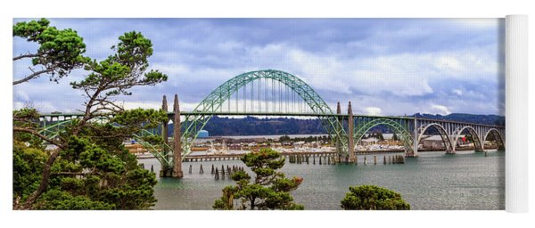 Yaquina Bay Bridge Panorama Yoga Mat