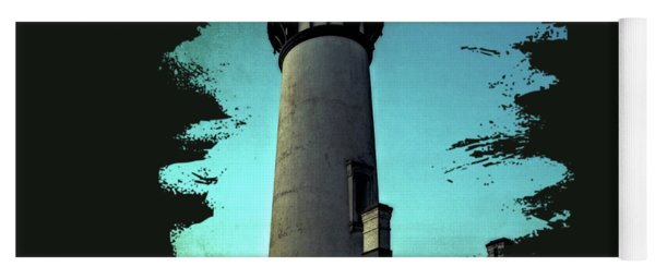Yaquina Head Lighthouse At Sunset Yoga Mat