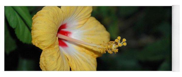 Yellow Bloom Yoga Mat
