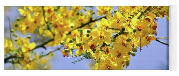 Yellow Blossoms Yoga Mat