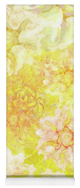 Yellow Camellia Hedges Yoga Mat
