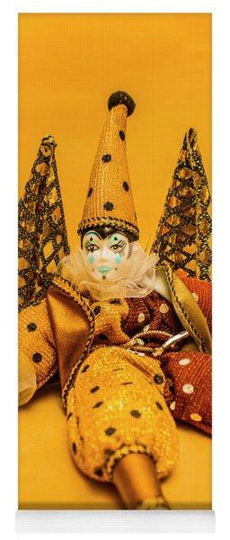 Yellow Carnival Clown Doll Yoga Mat