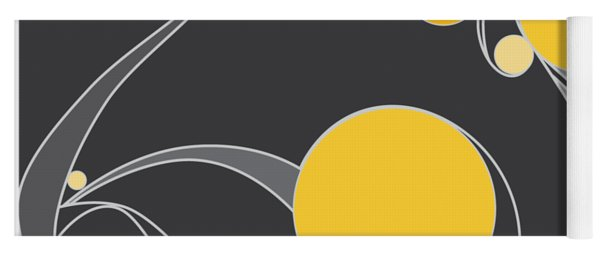 Yellow Circles Abstract Design Yoga Mat