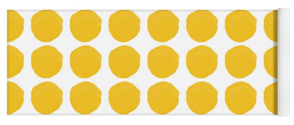 Yellow Circles- Art By Linda Woods Yoga Mat