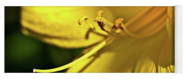 Yellow Daylily Yoga Mat